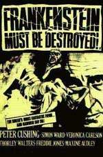 Peter Cushing ilustra el cartel de FRANKENSTEIN MUST BE DESTROYED (1968)